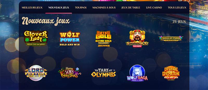 capture d'écran nouveaux jeux vegas plus